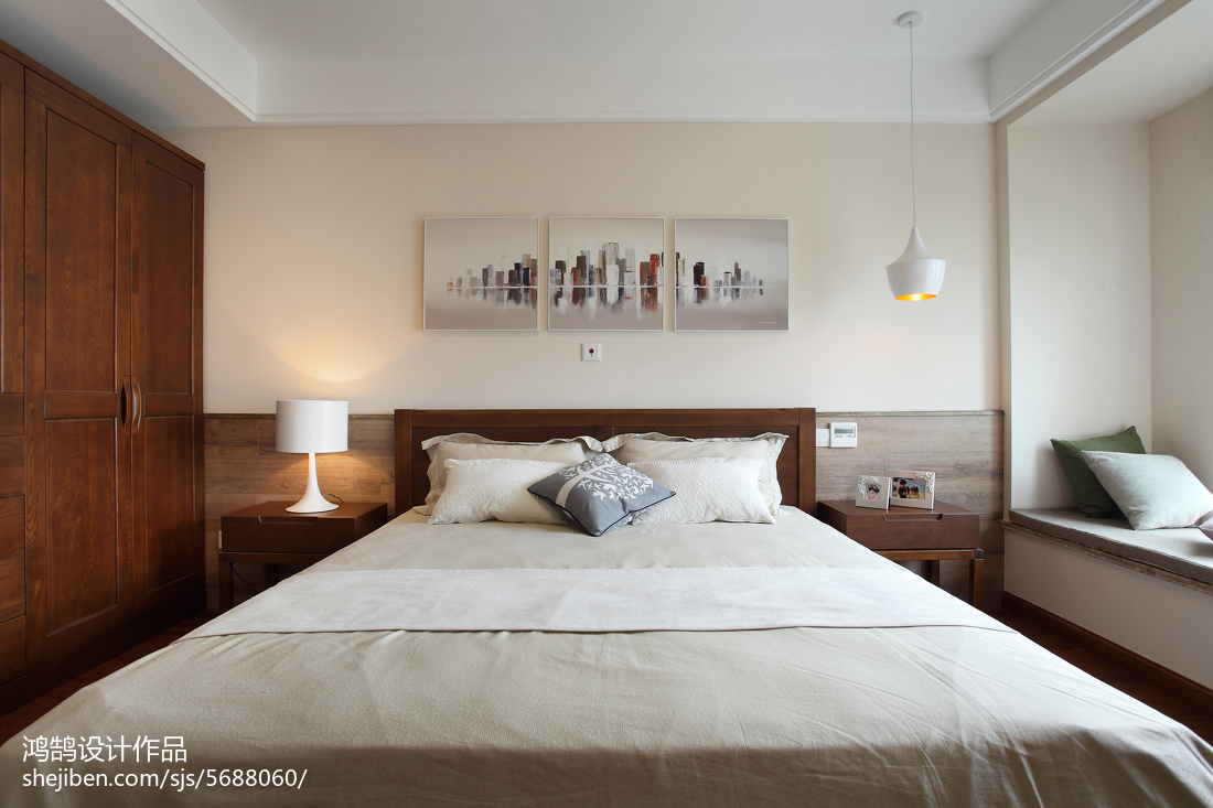 精选94平方三居卧室简约装修欣赏图片大全