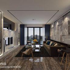 2018精选94平方三居客厅现代实景图