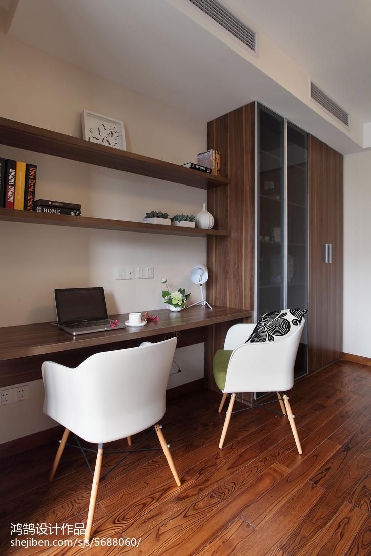 精选92平米三居书房简约装修设计效果图片欣赏