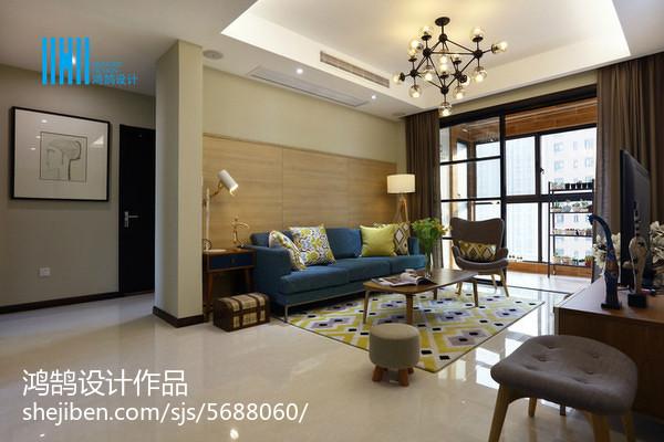 热门105平方三居客厅简约装修欣赏图片