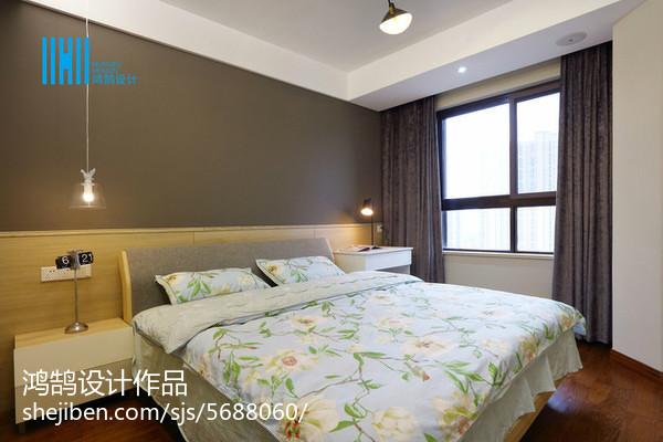 熱門面積94平簡約三居臥室裝修設計效果圖