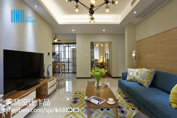 2018103平米三居客厅简约装修欣赏图