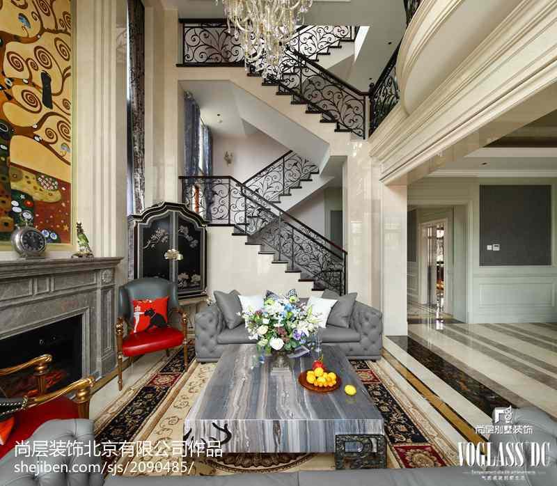 面积119平别墅客厅新古典效果图片