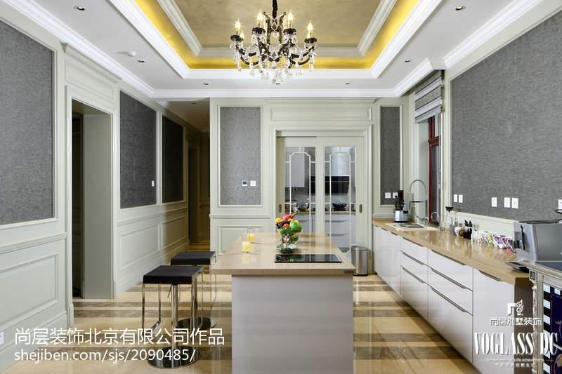 热门面积122平别墅厨房新古典装修图片大全