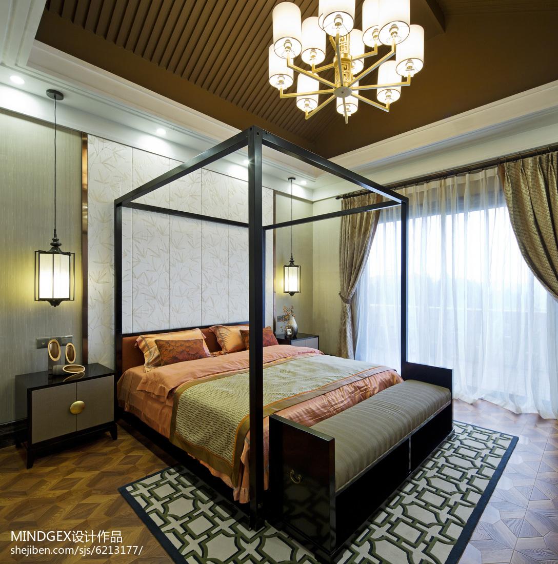 精选面积130平中式四居卧室装饰图片欣赏