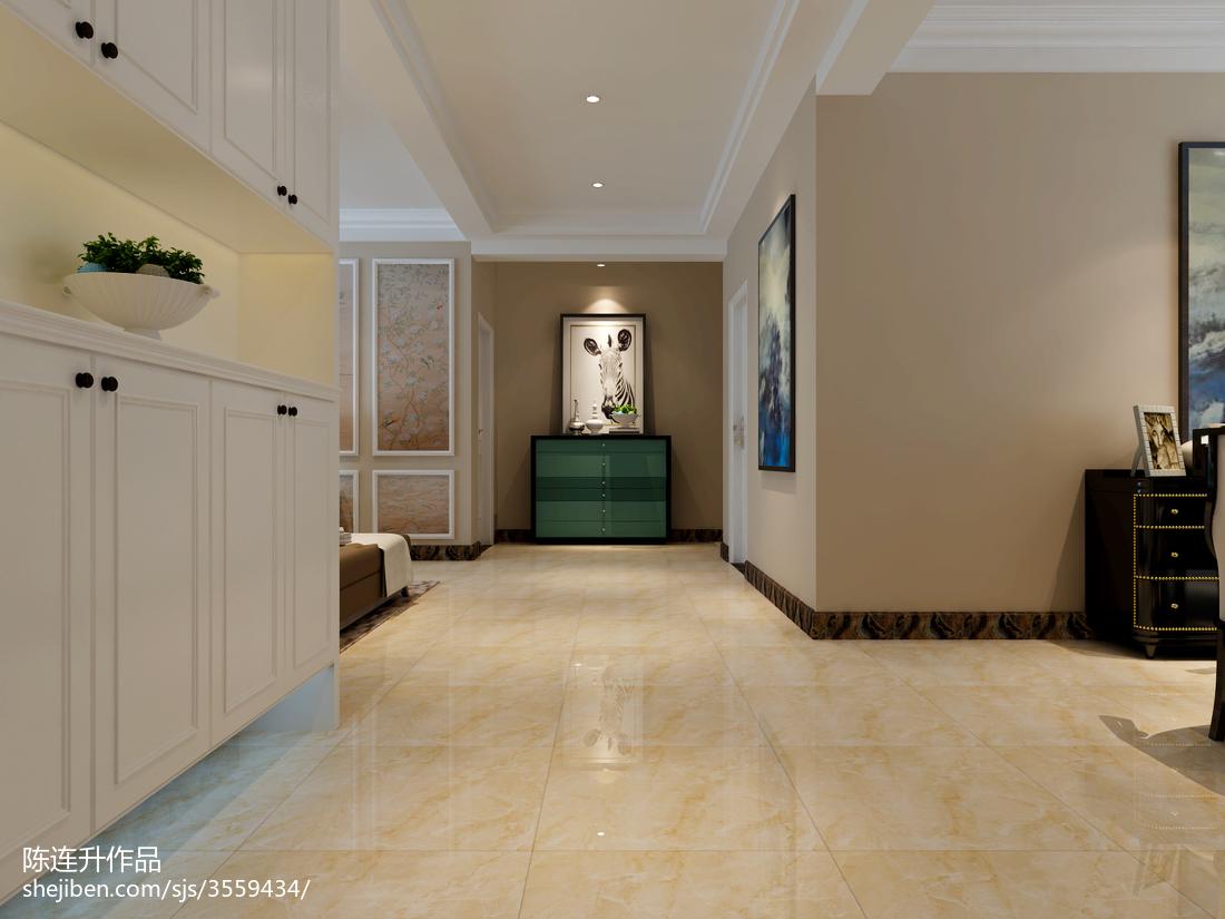热门面积90平中式三居装修效果图片欣赏