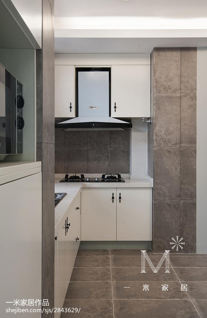 精美面积82平混搭二居厨房装修效果图片大全