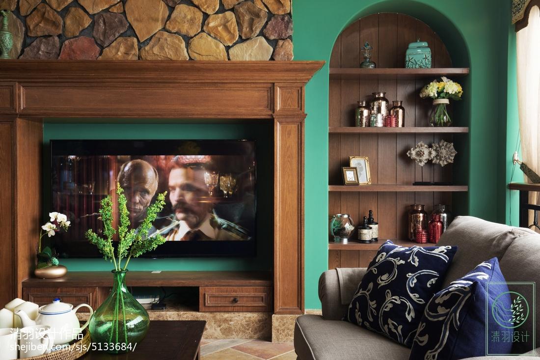 精美面积124平别墅客厅美式欣赏图