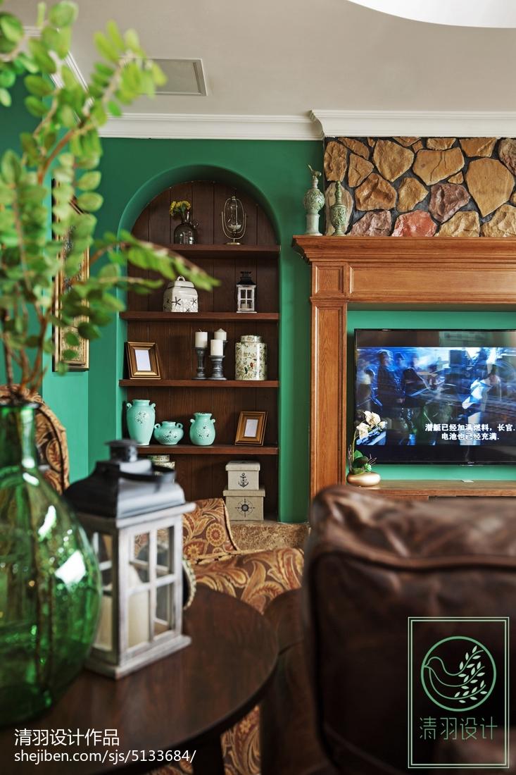 精美134平米美式别墅客厅装修图片欣赏