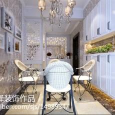 83平米二居餐厅欧式装修图