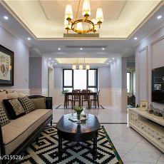 精美面积106平美式三居客厅实景图