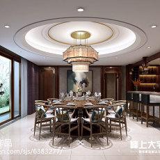 热门129平米中式别墅餐厅装修效果图片欣赏