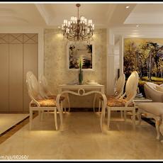 面积97平欧式三居餐厅装修实景图片欣赏