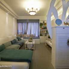 简约美式客厅沙发摆放效果图片