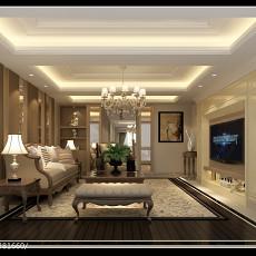 精美107平米三居客厅现代装修欣赏图片大全