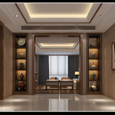 88平米二居客厅东南亚装修实景图片欣赏