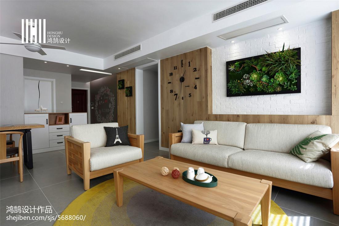 2018面积94平北欧三居客厅装修实景图片欣赏