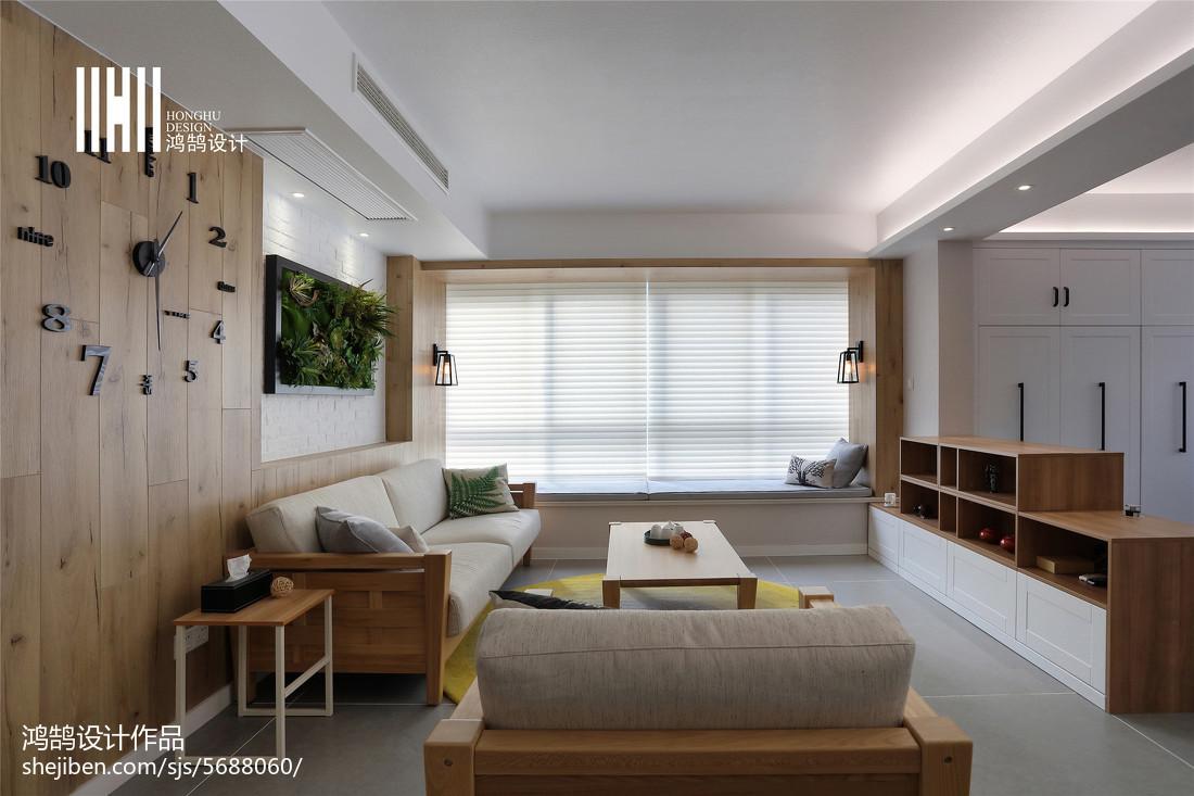 2018面积104平北欧三居客厅装修图片大全