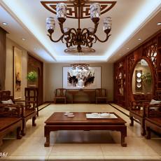热门面积143平别墅客厅中式实景图片大全