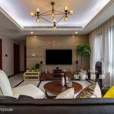 精选107平米三居客厅现代装修图