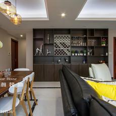 面积103平现代三居餐厅设计效果图