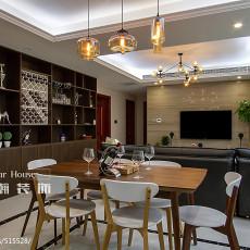 2018精选101平方三居餐厅现代装修效果图