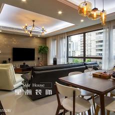 精致140平现代三居客厅装修美图