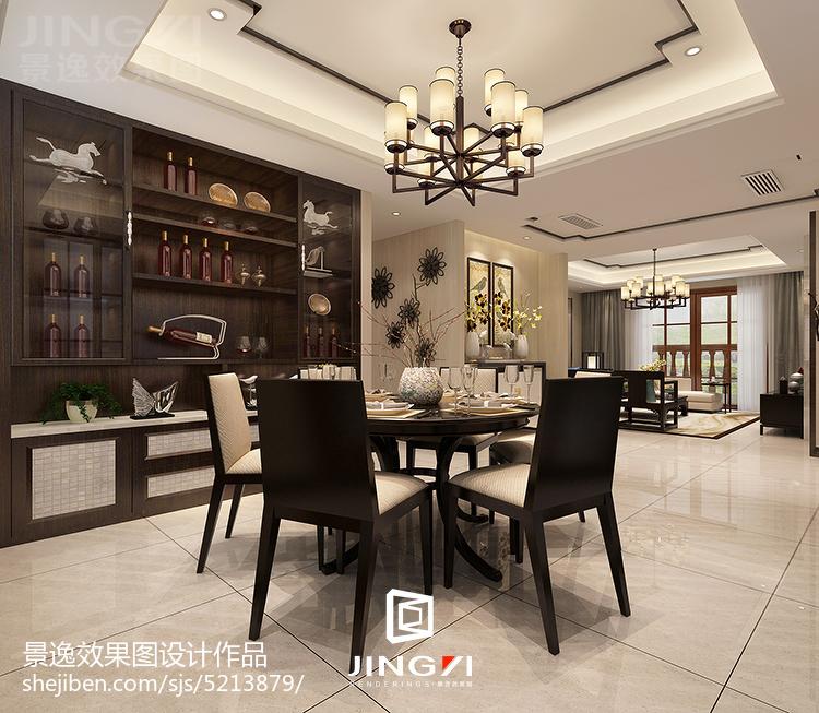 新中式舒适三居室设计效果图