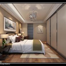 97平米三居卧室简约装饰图片大全