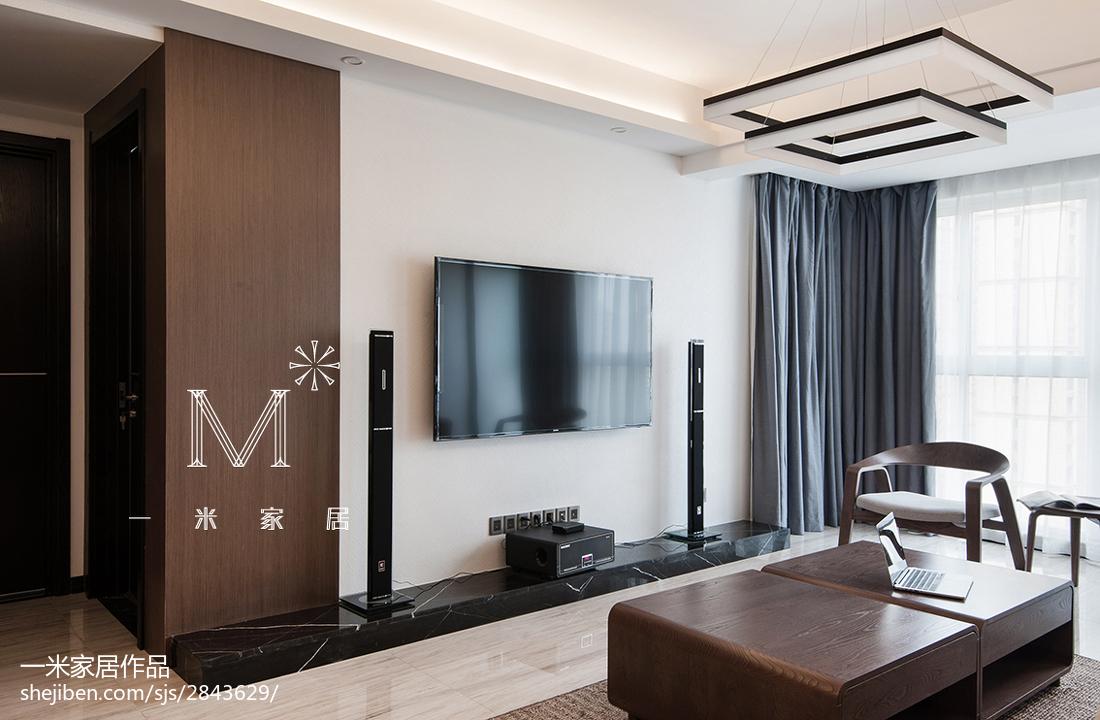 精美面积114平美式四居客厅装修欣赏图片大全