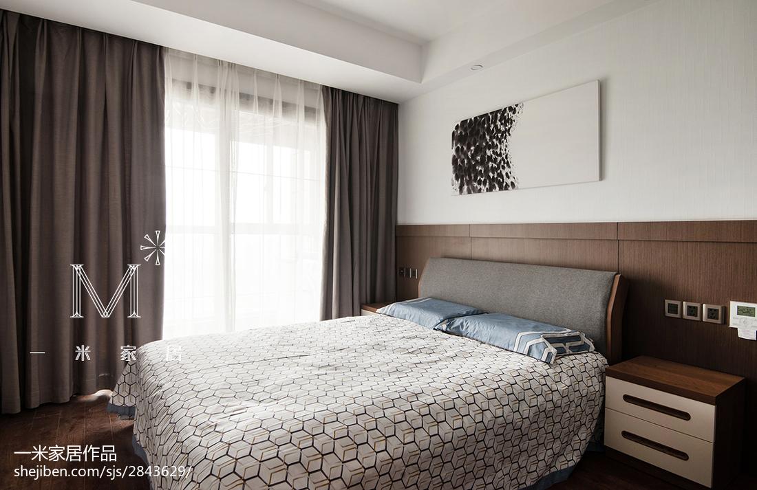 热门面积132平美式四居卧室装修欣赏图