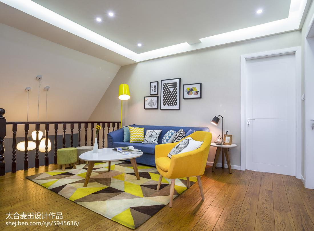 2018面积74平简约二居客厅装修图片欣赏