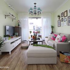 面积108平美式三居客厅实景图片