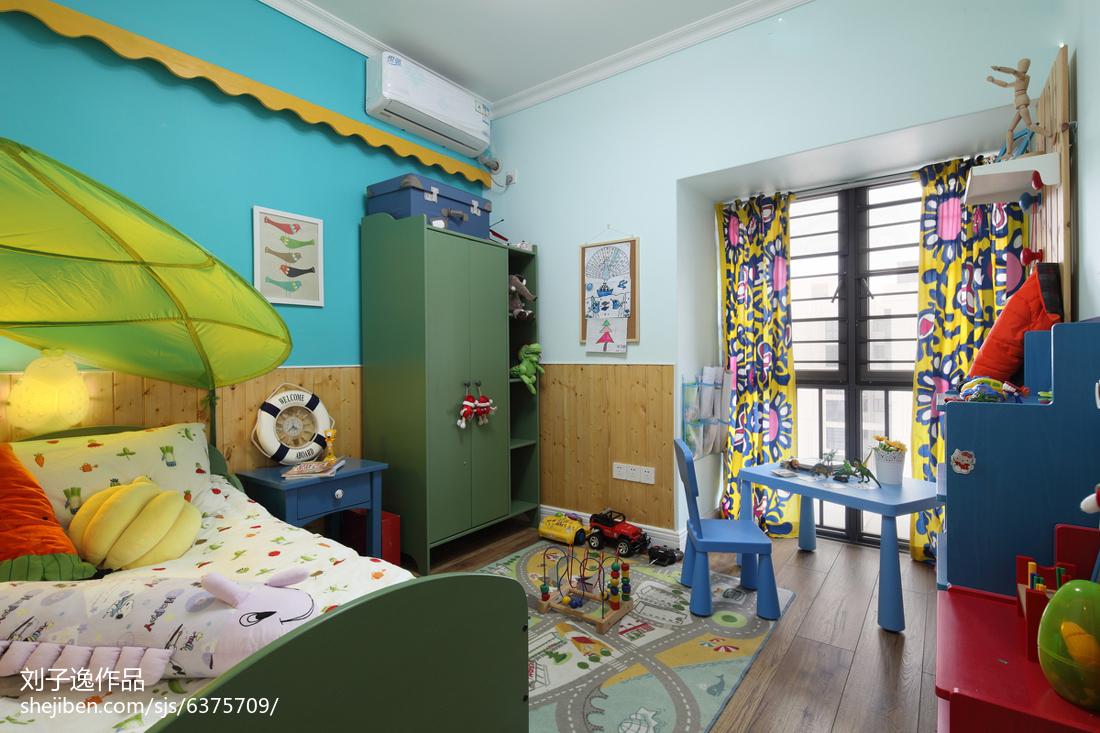 104平米三居卧室美式装修图片欣赏