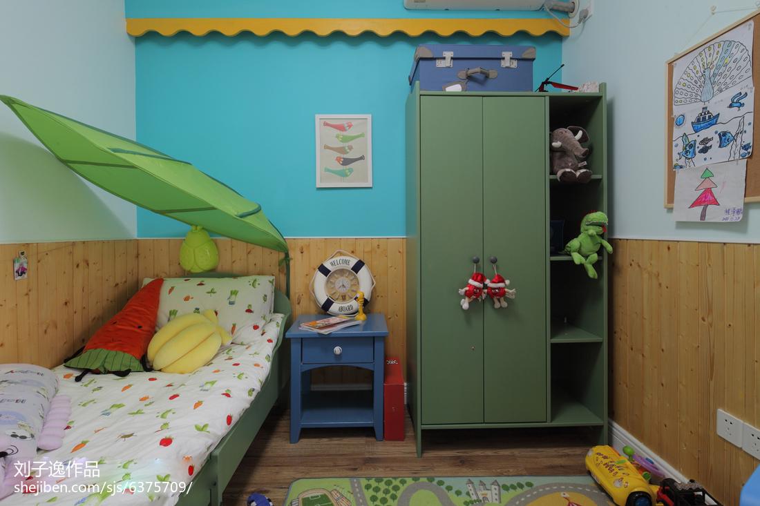 精选99平方三居卧室美式装修实景图片欣赏