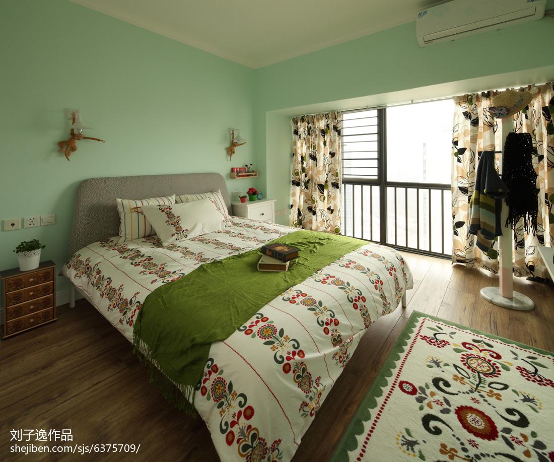 101平米三居卧室美式装修实景图片大全