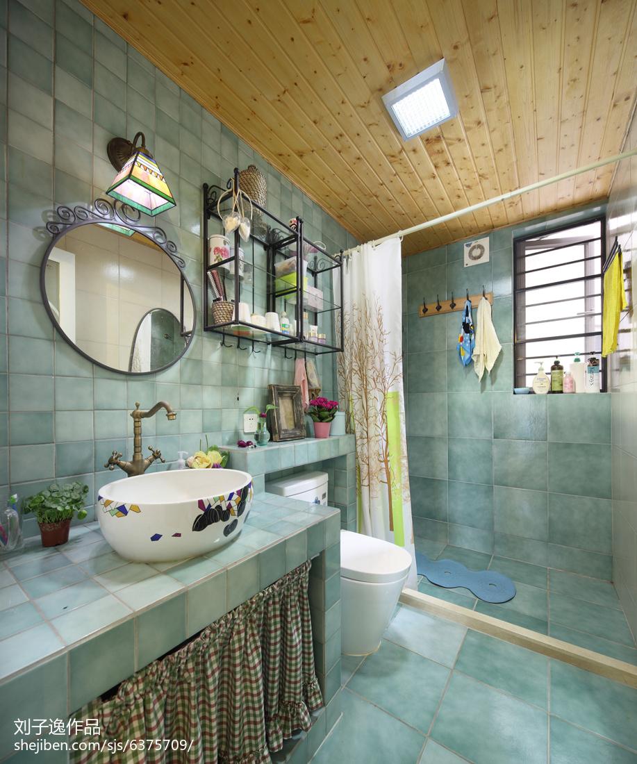 精美美式三居卫生间装修设计效果图片大全