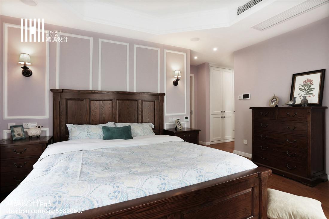 热门122平方四居卧室美式装修设计效果图片