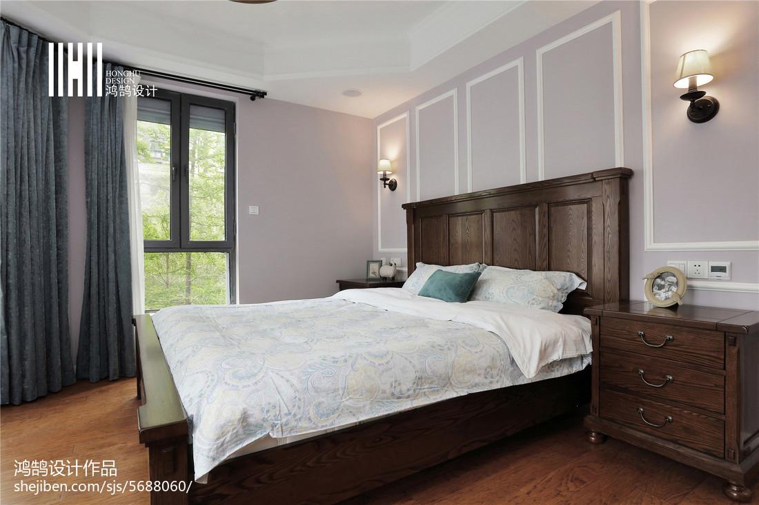 精致112平美式四居卧室实景图