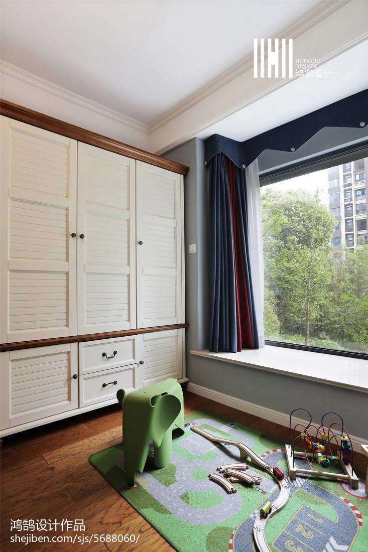 典雅104平美式四居装修装饰图