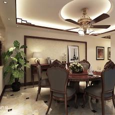 精美面积125平别墅餐厅中式装修实景图片欣赏
