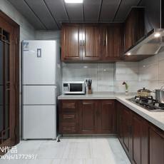 精美114平米中式别墅厨房实景图片