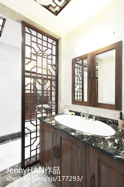 中式别墅卫生间装修欣赏图