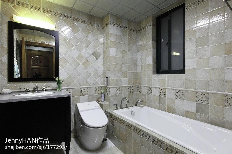 精选139平米中式别墅卫生间装修实景图片大全