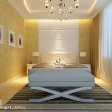精选93平米三居卧室现代装修实景图片大全