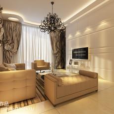 2018精选85平米二居客厅简约效果图片欣赏
