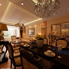精美大小101平欧式三居餐厅装修设计效果图片大全