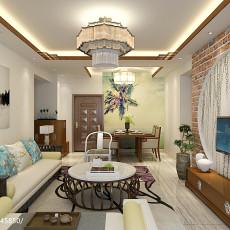 热门二居客厅中式装修图片欣赏