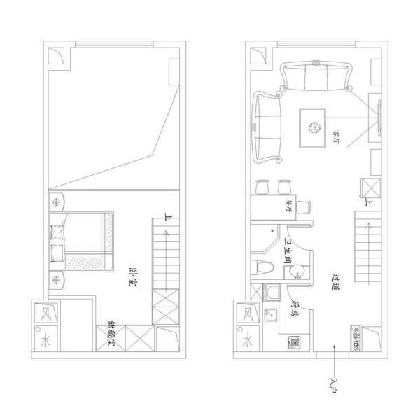 最新面积88平小户型田园装修图