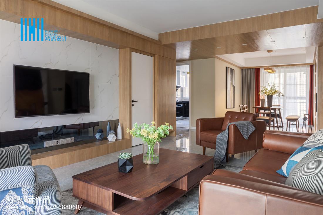 精选面积90平北欧三居客厅欣赏图片大全